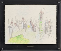 composition aux personnages by roberto matta