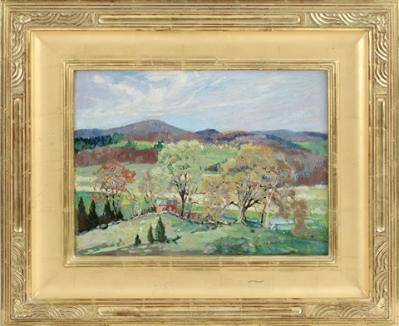 JAMES KING BONNAR, Massachusetts, 1883-1961, Barn in a mountain