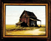barn with coca cola sign by ken fleisch