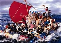 the raft of medusa by hu jieming
