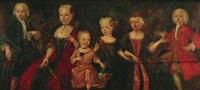 gruppenbildnis einer sechsköpfigen kinderschar by j.c. rithmann