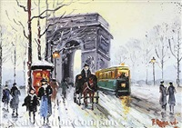 parisian scene (+ another; pair) by paul renard