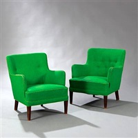 easy chairs (pair) by frits henningsen
