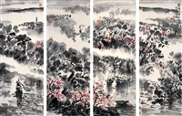 landscape (4 works) by liu zupeng