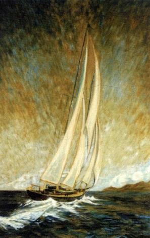 sailing boat lake pontchartrain by alex coulonge