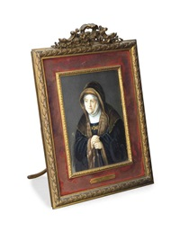 portrait of rembrandt's mother by p. stadler