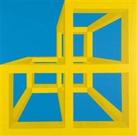 gabbia 142. variazione cromatica by antonio d'agostino