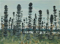 untitled - trees by jacques godefroy de tonnancour