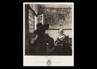 le soldat et la fillette qui rit (after johannes vermeer) by jules ferdinand jacquemart