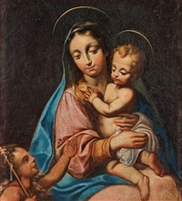 virgin and child with st by giulio cesare procaccini