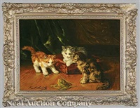 three kittens by bernard neville