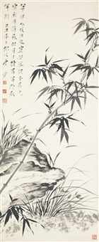 bamboo, rock and orchid by tang yun