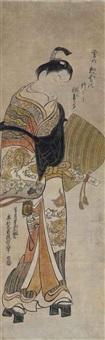 onoe kikugoro as soga no goro by okumura masanobu