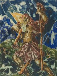 der heilige christopherus by moritz (moriz) melzer
