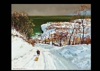 gap in the snow by hiroshi higuchi