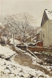 erster schnee by maximilien (max) clarenbach