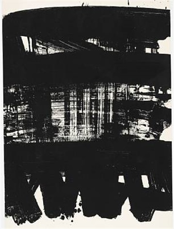 lithographie no 21 by pierre soulages