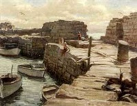sea wall cape ann by frank s. bensing