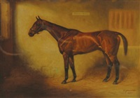 portrait of horse in a stable by a. townsend