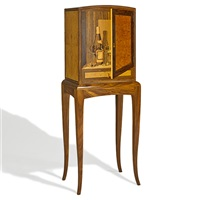 trompe l'oeil single-door cabinet by silas kopf