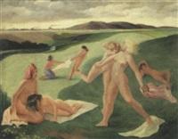 nudes in california landscape by frode nielsen dann