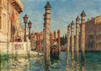 venezianischer kanal by joseph saint-germier