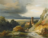paysage italien by jean charles joseph remond