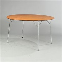 circular table (model 3600) by arne jacobsen