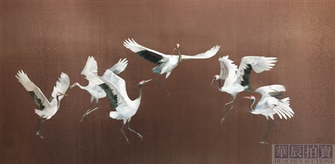 tripping of the cranes embroidered by cao by zhou aizhen