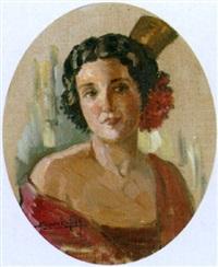 porträt einer jungen spanierin by alberto rafols culleres