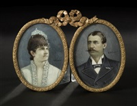 miniature portrait of a man and wife by alexandre alaux