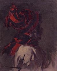 hombre con gorro y bufanda by manuel monedero