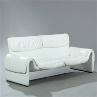 freestanding two seater sofa (model 2011/02) by de sede