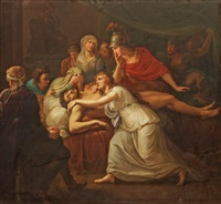 andromache lamenting the death of hector by friedrich heinrich füger