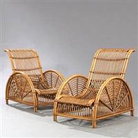 skovsneglen easy chairs (pair) by arne jacobsen
