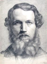 schulterbild eines mannes mit bart by georg heinrich büttner