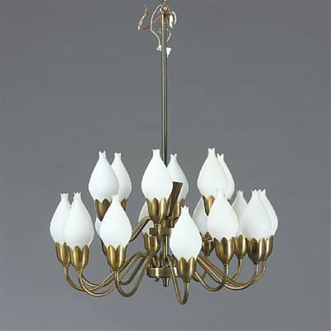 Tulip chandelier and pair of double wallamps 3 works by fog tulip chandelier and pair of double wallamps 3 works by fog mrup aloadofball Image collections