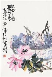 艳秋 镜片 设色纸本 by xu linlu