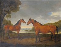 horses match and premium at stillingfleet by henry calvert