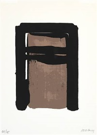 sérigraphie no 10 by pierre soulages