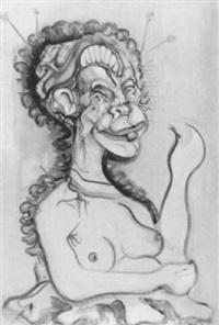 aktfigur einer dame by dominik rasser