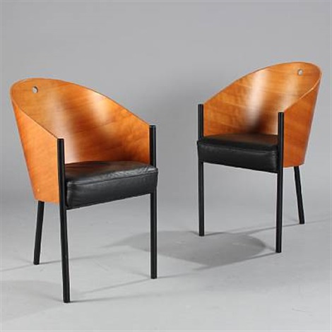costes chairs pair by philippe starck