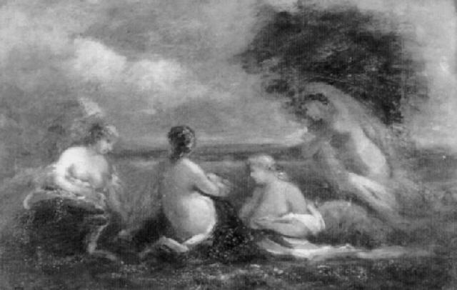 baigneuses le soir by marie abraham rosalbin de buncey