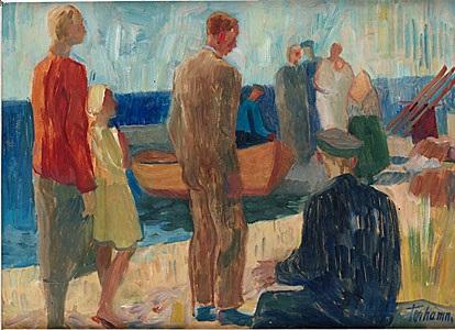 vid båtbryggan by gunnar torhamn