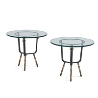 side tables (pair) by jacques adnet