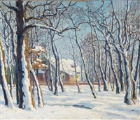 winterlandschaft by carl friedrich felber