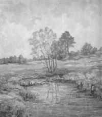 bachlandschaft mit bäumen by frans von bartsch