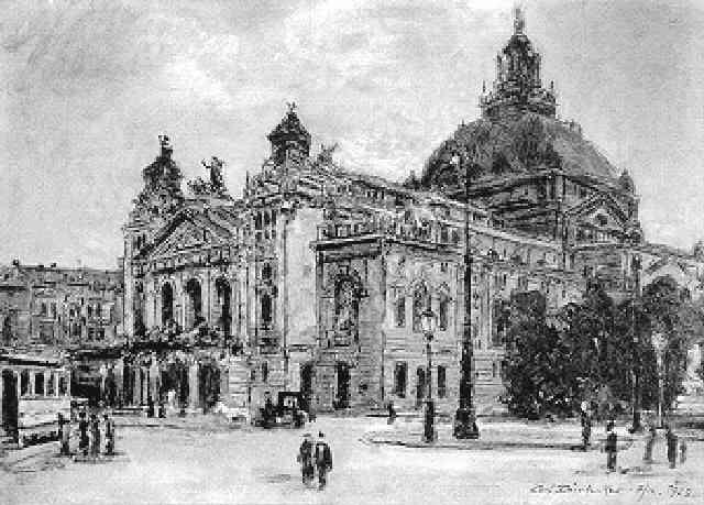 schauspielhaus in frankfurt by carl dörrbecker