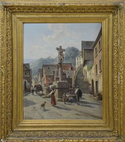 une rue de bern castel moselle by jacques françois carabain
