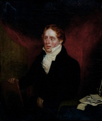 halbportrait eines jungen schriftstellers by john jackson